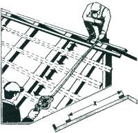 Dachdeckerlattmassband _ Zeichnung
